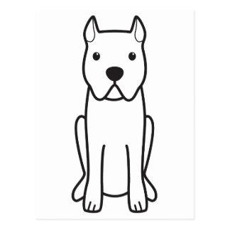 Cane Corso Dog Cartoon Postcard