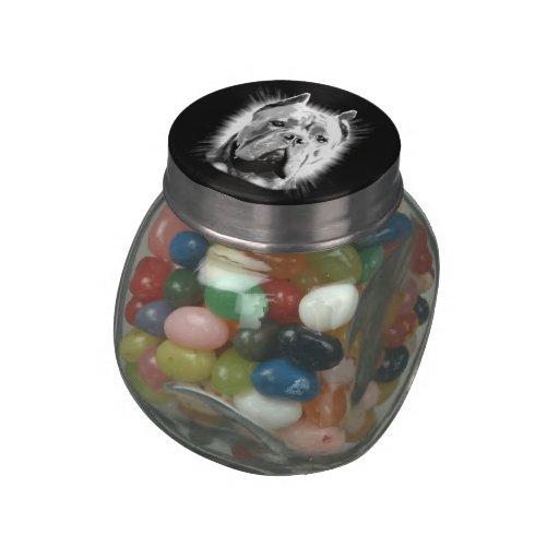 Cane Corso Dog Jelly Belly™ Glass Candy Jar