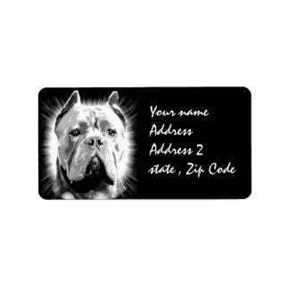 Cane Corso Dog Label
