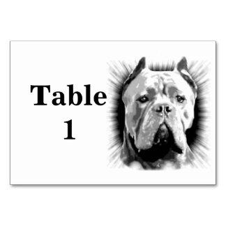 Cane Corso Dog  table card