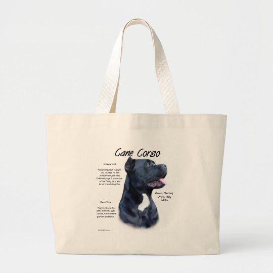 Cane Corso History Design Large Tote Bag