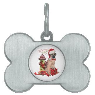 Cane Corso Merry Christmas Pet Name Tag
