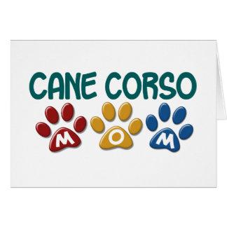CANE CORSO Mom Paw Print 1 Cards