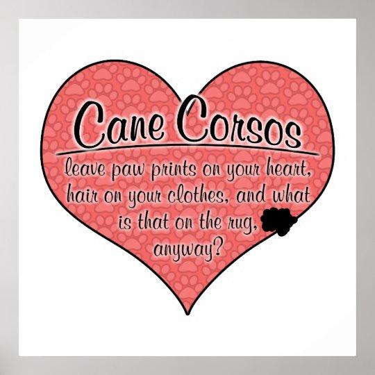 Cane Corso Paw Prints Dog Humor
