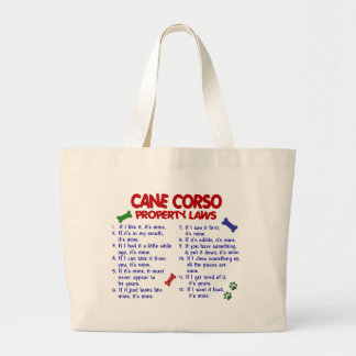 CANE CORSO Property Laws 2 Jumbo Tote Bag
