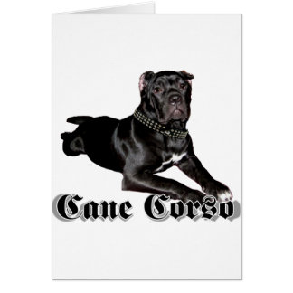 Cane Corso puppy greeting card
