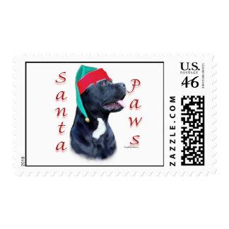 Cane Corso Santa Paws Postage Stamp