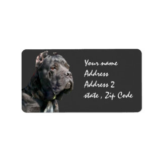Cane corso shipping labels