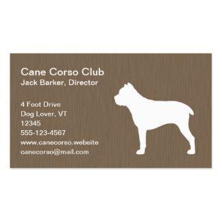 Cane Corso Silhouette Business Card