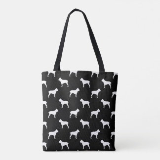 Cane Corso Silhouettes Pattern Tote Bag
