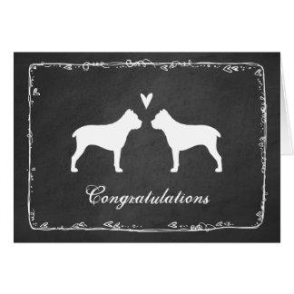 Cane Corso Silhouettes Wedding Congratulations Card
