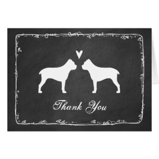 Cane Corso Silhouettes Wedding Thank You Card