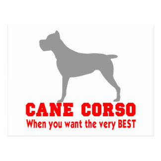 CANE CORSO THE VERY BEST POSTCARD