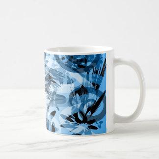 Caneca Azul Abstrata Coffee Mug