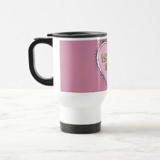 caneca de viajem GAROTA ESTRANHA pink Travel Mug