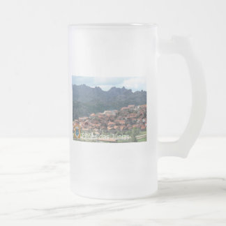 Caneca Pitões Frosted Glass 16 oz Frosted Glass Beer Mug