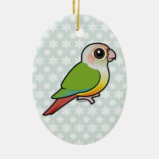 Canela Conure Verde-cheeked de Birdorable Adorno Ovalado De Cerámica