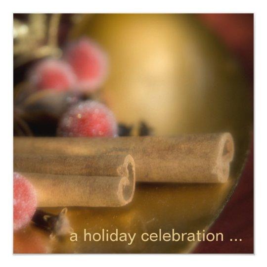Canela · Invitación de la fiesta de Navidad