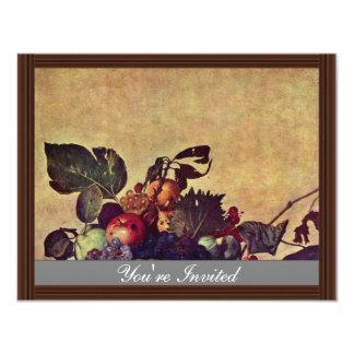 Canestra Di Frutta By Michelangelo Merisi Da Carav Personalized Invite