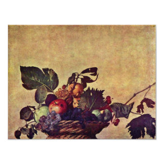 Canestra Di Frutta By Michelangelo Merisi Da Carav Personalized Invitation