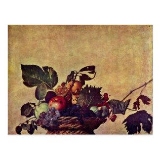 Canestra Di Frutta By Michelangelo Merisi Da Carav Postcard
