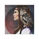 """Caneva """"Lady Owl """" Impresiones En Lona"""