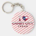 Caney City, Texas Key Chain