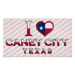 Caney City, Texas Poster