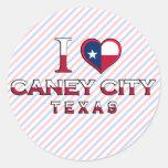 Caney City, Texas Stickers