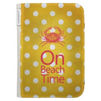 """Cangrejo amarillo del lunar """"el tiempo de la playa"""