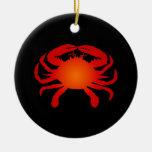 Cangrejo anaranjado ornamento de navidad
