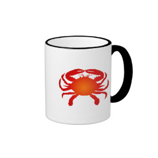 Cangrejo anaranjado taza de café