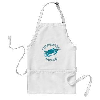 Cangrejo azul de la bahía de Chesapeake Delantal