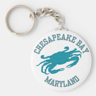 Cangrejo azul de la bahía de Chesapeake Llavero Redondo Tipo Pin