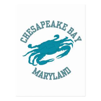 Cangrejo azul de la bahía de Chesapeake Postal