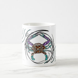 Cangrejo azul de la gema taza de café