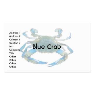 Cangrejo azul de la tarjeta de visita