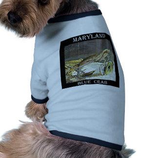 Cangrejo azul de Maryland Camisas De Mascota