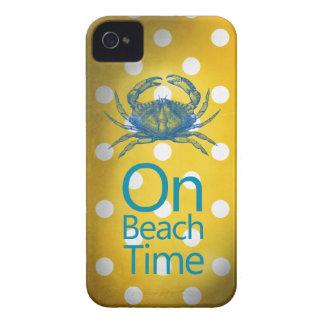 """Cangrejo azul del lunar amarillo """"el tiempo de la  Case-Mate iPhone 4 cárcasas"""