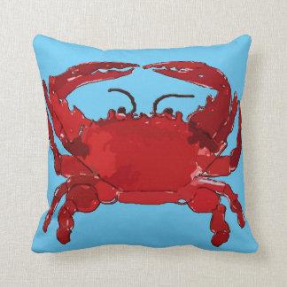 Cangrejo azul hervido cojín