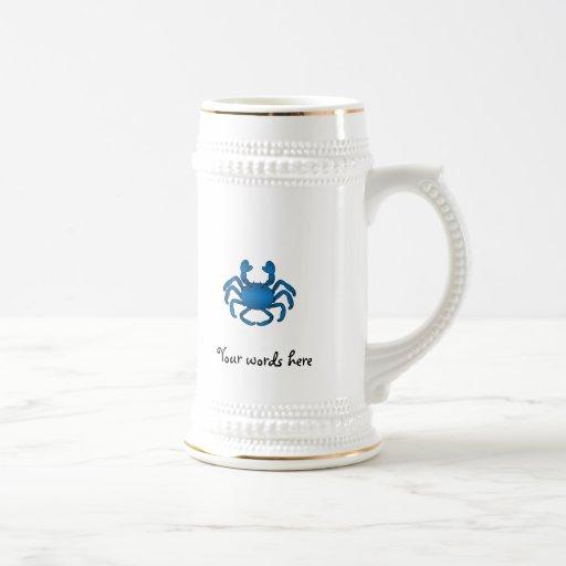 Cangrejo azul jarra de cerveza