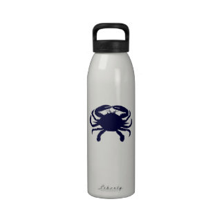 Cangrejo azul marino botellas de agua reutilizables