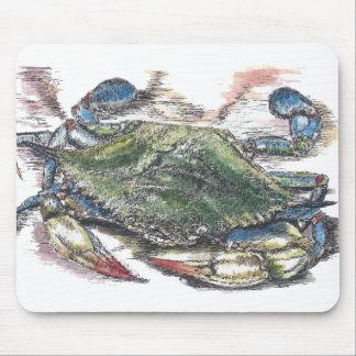 Cangrejo azul Mousepad Alfombrillas De Ratón