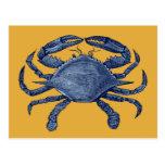 Cangrejo azul postal