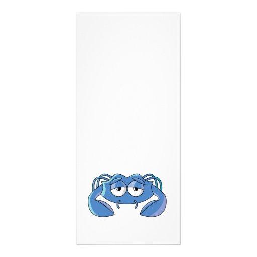 cangrejo azul soñoliento tarjetas publicitarias a todo color