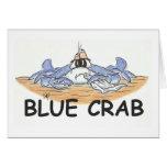 Cangrejo azul tarjeta
