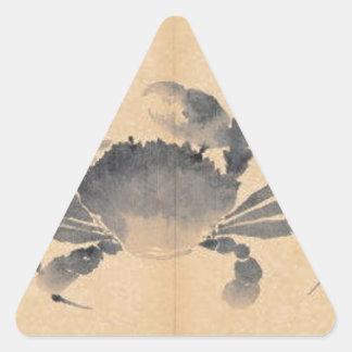 Cangrejo (bosquejos a partir de la vida) por Shen Pegatina Triangular