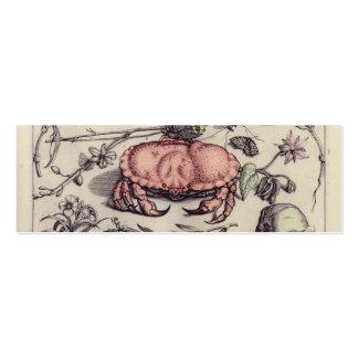 Cangrejo, Botanicals, insectos, y flores del Tarjetas De Visita Mini