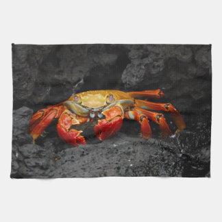 Cangrejo colorido toalla de mano