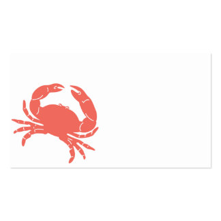 Cangrejo costero tarjetas de visita